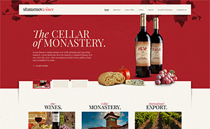 Website development for Stamenov Wine