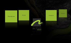 Representative website design and development for Active Group advertising agency