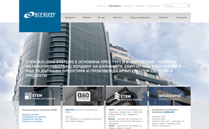 Website development and popularization of the official site of ETEM Building Systems
