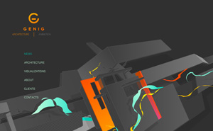 Logo design, corporate identity and flash website design and development for Genig.
