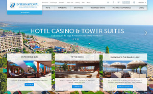 Design and website development for International Hotel Casino & Tower Suites