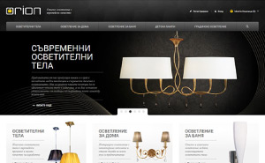 Online shop development for ORION