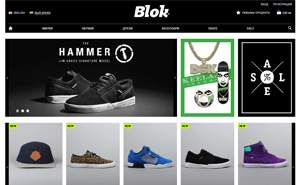 Online shop development for BLOK